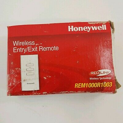 Honeywell Red Link Wireless Entry Exit Remote Rem1000r1003 New In Box