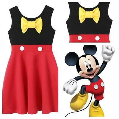 GIRLS Disney Mickey mouse inspired holiday dress Fancy Dress Costume 2 3 4 5 6 7 - Mickey Mouse Costumes For Girls