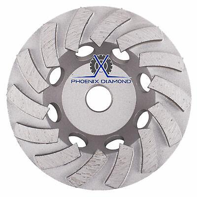 5 Concrete Grinding Cup Wheels 18 Diamond Abrasive Segs- 58-11 Arbor Freeship