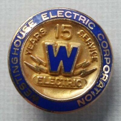 WESTINGHOUSE ELECTRIC CORP 15 YEAR SERVICE PIN EMPLOYEE