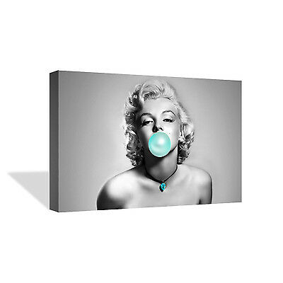 Marilyn Monroe Chewing Gum Black and White Canvas Photo Wall Art Prints Framed