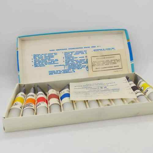 Vintage Set of watercolor art paints Neva made in USSR 80s