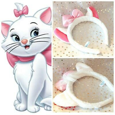 kids DISNEY ears Marie Aristocats kitten pink bow Headband Costume 3d soft plush (Disney Kid Kostüme)