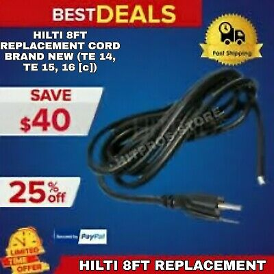 Hilti 8ft Replacement Cord Brand New Te 14 Te 15 Te 16 C Original Lk