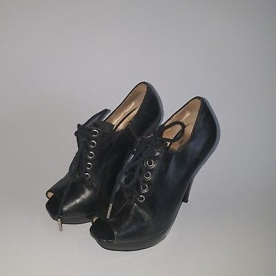 Michael Kors High  Shoe Boots  Sz .4.5 / Black Leather (Nordstrom's) 175.00.
