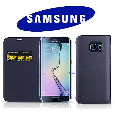 OEM Original Samsung Galaxy S6 Edge Wallet Flip Cover Case Credit Card