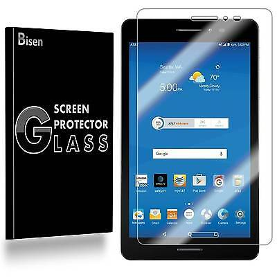 AT&T Trek 2 HD [BISEN] Tempered Glass Screen Protector Guard Shield Saver Cover