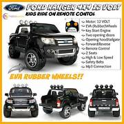 NEW BLACK 12 VOLT Ford Ranger Kids Ride On Car Remote Control Sydney City Inner Sydney Preview
