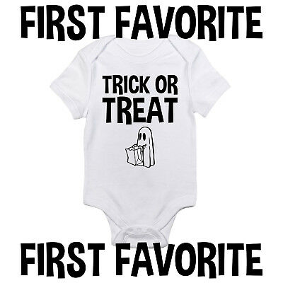 Trick Or Treat Baby Onesie Shirt Halloween Costume Infant Newborn Clothes Gerber