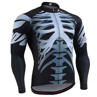 FIXGEAR CS-5501 Men's Long Sleeve Cycling Jersey Bicycle Apparel Roadbike MTB