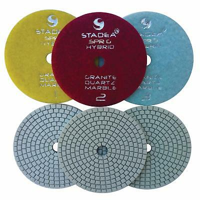 Stadea Diamond Polishing Pad Three 3-Step Wet Dry 4