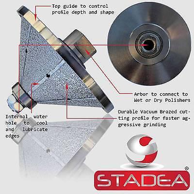 Diamond Profile Wheel Bit Bevel 1-316 30 Mm E30 4 Grinder Wet Polisher Granite