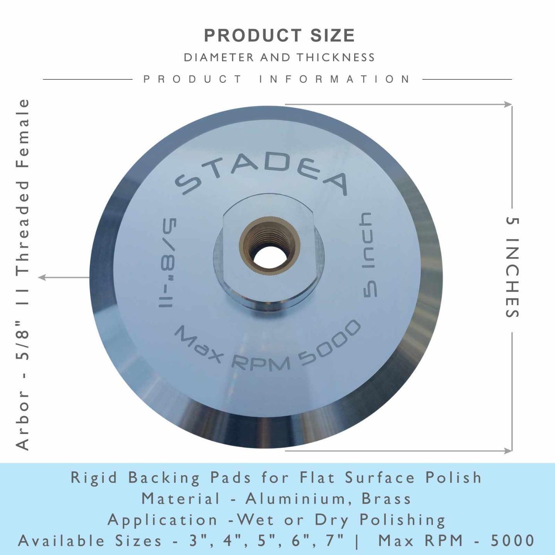 "Stadea Snail Lock Adapters Aluminium Backer Pads Rigid Holder with 5//8/"" 11 T"