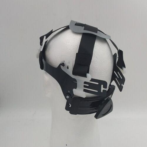 FULL BRIM Hard Hat custom hydro dipped SILVER N BLACK CYBORG SKULL SICK NEW 5