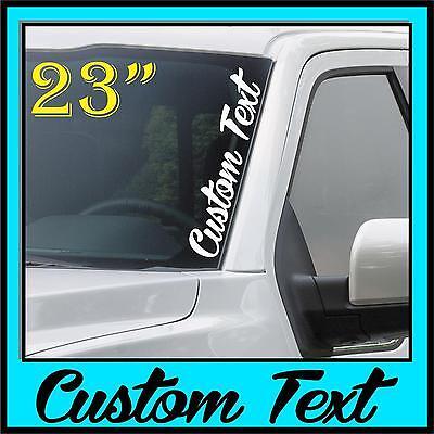Left Side Banner - Custom Text Windshield Banner Decal Sticker Vertical Script Side JDM Honda Acura