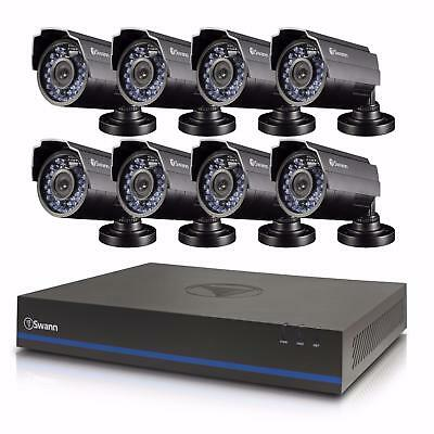 (Complete System) Swann 8 CH 1080P DVR & 8 HD Security Cameras w/ 2 TB