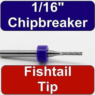 116 Router - Carbide - Chip Breaker Flutes - Fishtail Tip Up Cut Cnc R160