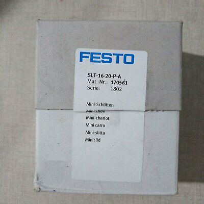 One New Festo Slide Cylinder Slt-16-20-p-a 170561 In Box Spot Stock