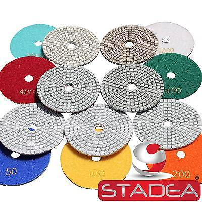 Diamond Polishing Pads 4 Inch Wetdry 25 Piece Set Granite Marble Concrete Stone