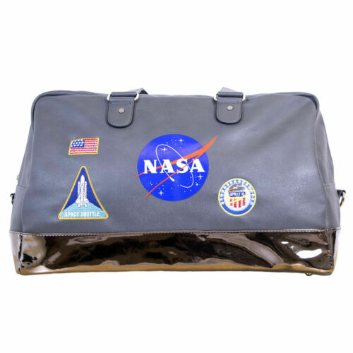 NASA Lifestyle Travel Grey Accessory Duffel Bag NEW!