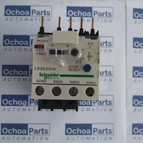 SCHNEIDER ELECTRIC LR2K0314 DIFFERENTIAL THERMAL OVERLOAD RELAY 5.50-8 10A