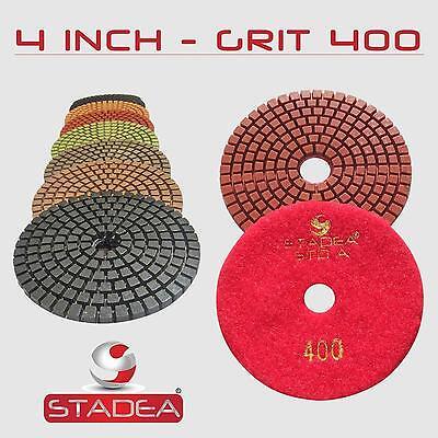 Stadea 4 Diamond Polishing Pad Grit 400 For Granite Concrete Wet Grinder Floor