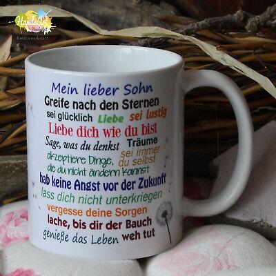 Valentin Kinder (Tasse / Mein lieber Sohn / Geschenk Kinder Weihnachten Valentinstag)