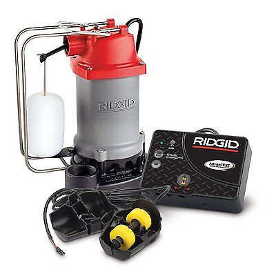 Ridgid 47333 Rs50at 12 Hp Sump Pump Sys W Advantext Flood Monitoring