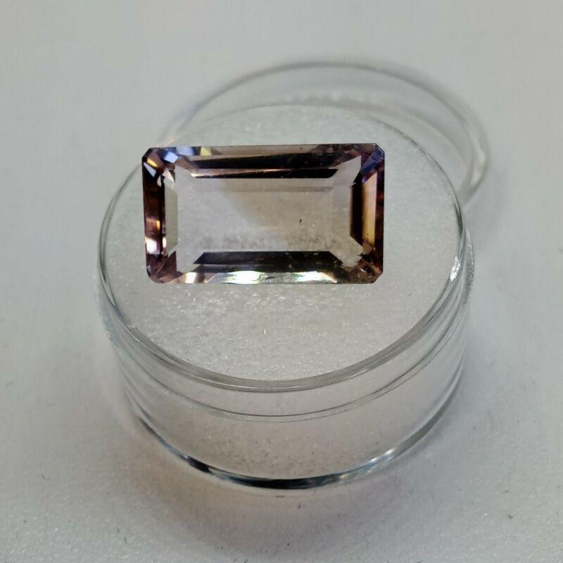 11.60cts Natural Ametrine Gemstone. 17.6x9.9x7.7mm Step Emerald Cut. FF01