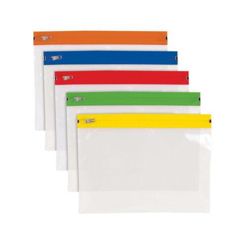A5 ZIP/ZIPPY BAGS - Organizer Folder Pocket Subject Storage Wallet