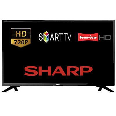 """Sharp 32BC2K 1T-C32BC2KE1FB 32"""" Smart LED HD TV With Freeview HD & Freeview Play"""