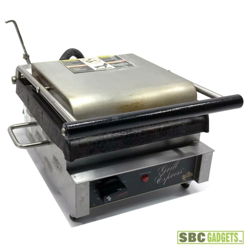 Star GX10IG Grill Express 10 in Grooved Sandwich Grill Panini