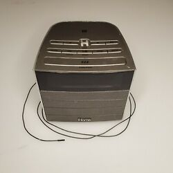 iHome iBN20 Grey Bluetooth FM Clock Radio Audio Speaker with USB Charging