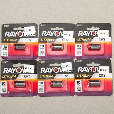 Rayovac Lithium CR2 3-Volt Battery Lot (6-Pack) Camera Photo Range Finder ()