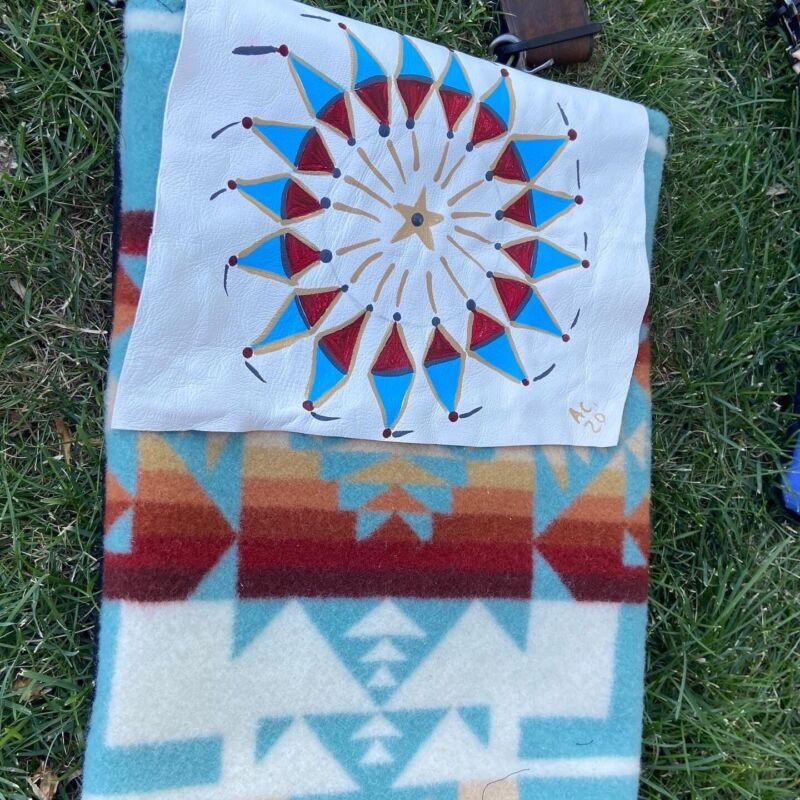 Native American Bag Native American Made Warbonnet  Pow Wow Regalia Pendleton