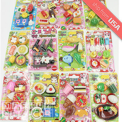 Japanese eraser Kawaii Cute miniature Food Snack Animal Vehicle collectable set - Food Erasers