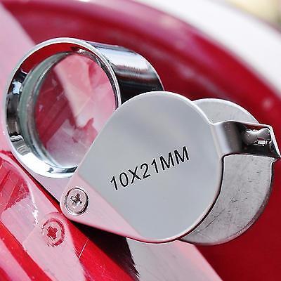 Mini Magnifying Glass (Mini 10 x 21mm Glass Magnifying Magnifier Jeweler Eye Jewelry Loupe)