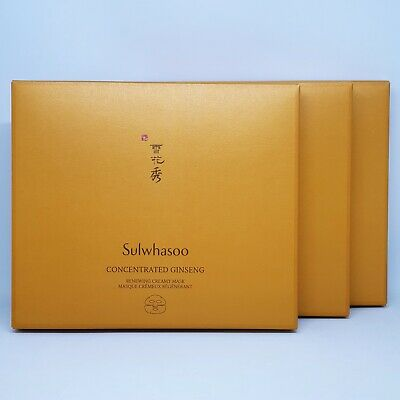 Sulwhasoo Concentrated Ginseng Renewing Creamy Mask x 3set Anti-Aging K-Beauty