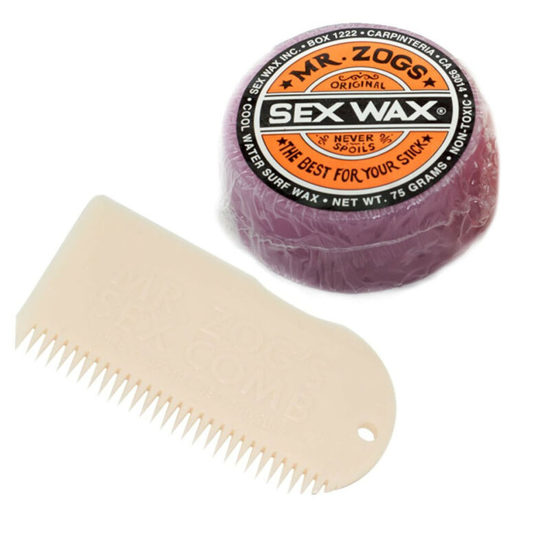 Sex Wax Cool Bar Surf Wax with White Comb