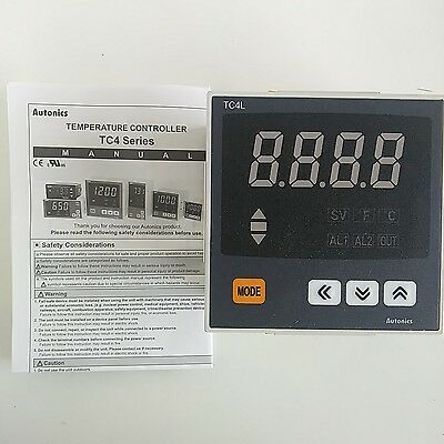 Autonics Tc4s-24r Temperature Controller Pid Din 48x48 Alarm 12 Relay Ssrp Out
