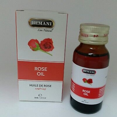 Hemani Rose Oil 100  Natural Cold Pressed Halal Essential Oil 30Ml 1 2 3 4 5 6