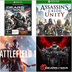 4 XBOX ONE GAMES (GOW 4 + BATTLEFIELD 1) Lakemba Canterbury Area Preview
