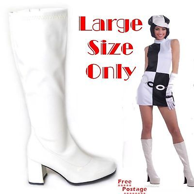 Attracting Men Women 60s 70s Go Go Evening Party LARGE sIZE 9 - 12 Boots - 70s Go Go Boots