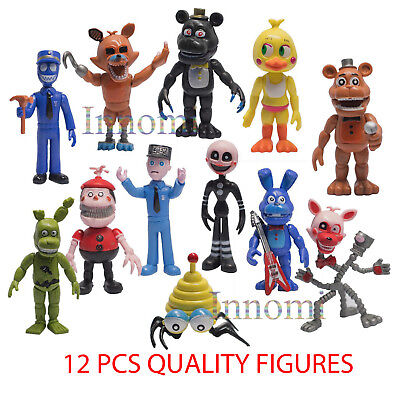 12 Pcs 4  Tall Five Nights At Freddys Action Figures Toys Dolls Set Great Gift