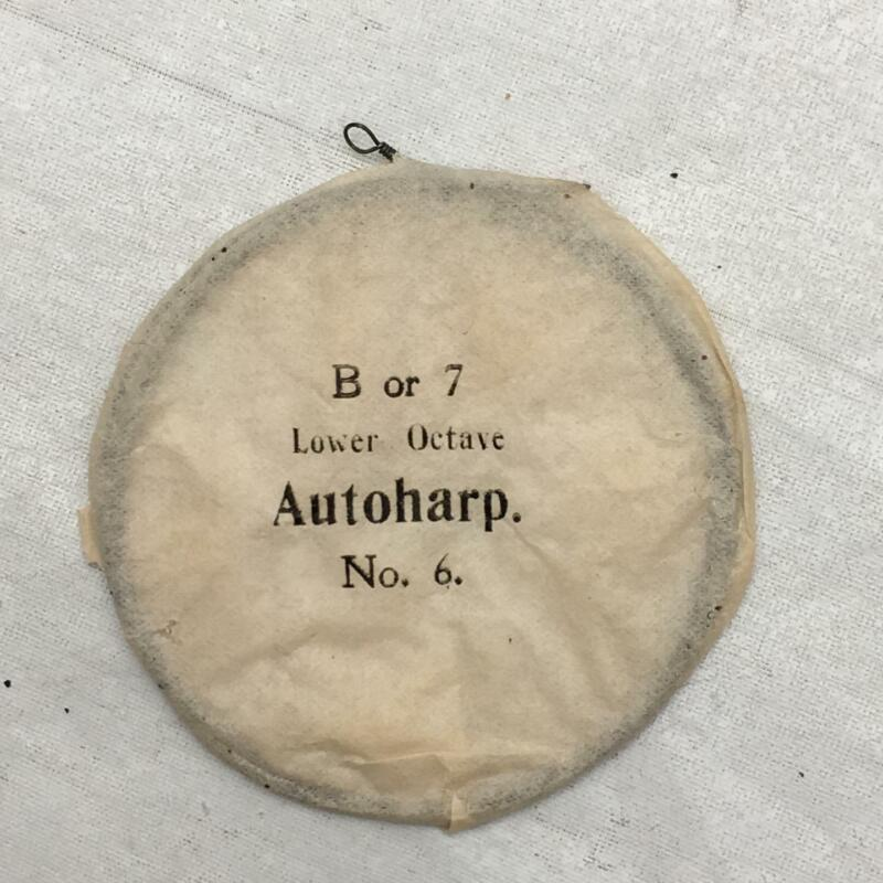 Antique Autoharp Strings B OR 7 LOWER OCTAVE No. 6 Still in Paper Package