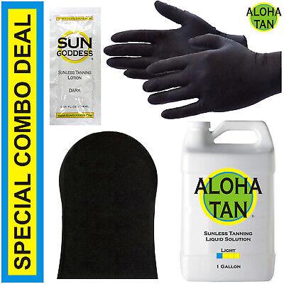 Best Spray Tan Solution - LIGHT - 1 GALLON + Sunless Tanning Self Tanner