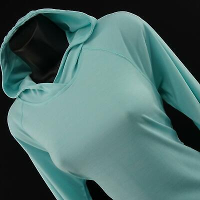 Womens Under Armour UA Run Heatgear Blue Workout Sweat Shirt Hoodie Size Medium