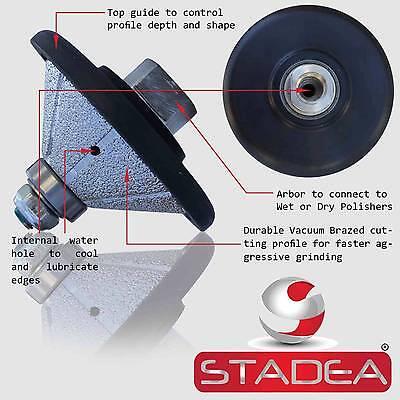 Diamond Profile Wheel Bit Bevel 1 E25 4 Grinder Wet Polisher Granite Concrete