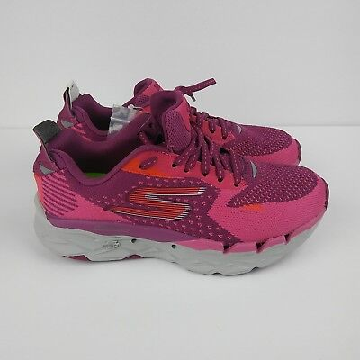 SKECHERS Go Run Ultra Road 2 Running Shoes Purple Pink Gray Women's Size 6