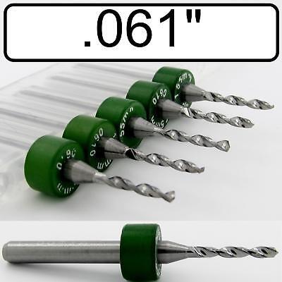 .061 1.55mm Five Carbide Drill Bits - Wood Metal Plastic Aluminum Cnc Rs